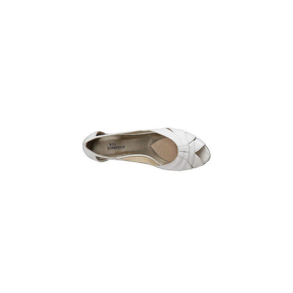 Mark Peep Lemp Classics Womens Zuzu Peep Mark Toe Ballet Flats B001NF49WG 8 4A US|White dff6db