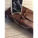 Leather photo album, personalized FREE, hand made