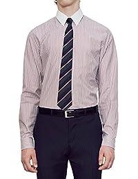 "<span class=""a-offscreen"">[Sponsored]</span>Men's Rose Rail Bicoloured Stripe Cotton Contrast Collar Dress Shirt"