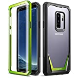 Galaxy S9 Plus Case, Poetic Guardian [Scratch Resistant Back] [360 Degree Protection] Full-Body Rugged Clear Hybrid Bumper Case with Built-in-Screen Protector for Samsung Galaxy S9 Plus Green