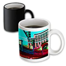 Jos Fauxtographee Realistic - A Street Light and building with a pedestrian bridge over head in Vegas - 11oz Magic Transforming Mug (mug_61308_3)