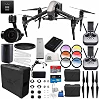 DJI Inspire 2 Premium Combo with Zenmuse X5S and CinemaDNG and Apple ProRes Licenses Videographer 240G PRO Bundle