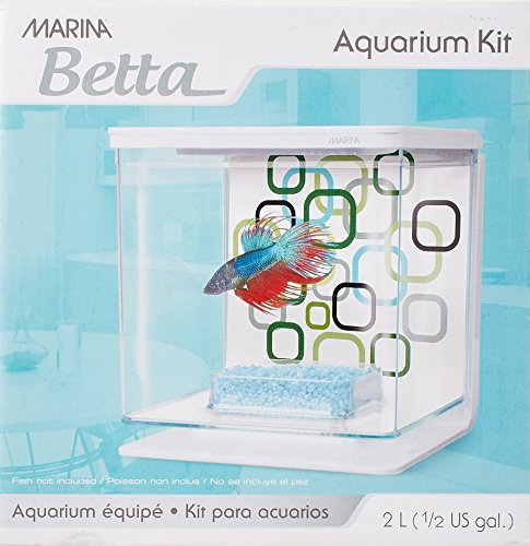 Marina Betta Aquarium Starter Kit, Geo Bubbles by Marina