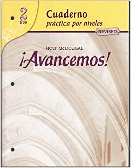 Avancemos Cuaderno Practica Por Niveles 2 Revised Spanish Edition By Mcdougal Littel 2006 05 08 Mcdougal Littel Amazon Com Books