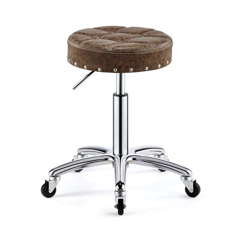 A2 X-Small Beauty Chair Bar Chair Chair Front Chair redatable Bar Chair Lift Bar Stool Hairdressing Stool with Backrest Wear-Resistant and Easy to Clean High-Grade Leather to Strengthen The Chassis
