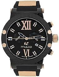 Mulco Nuit Black Dial Black Rubber Unisex Watch MW311010024