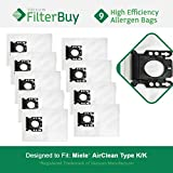 9 - Miele KK Vacuum Bags, Miele Part # 05588951. Designed by FilterBuy to replace Miele AirClean KK Vacuum Dust Bags