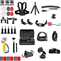 Action Camera Accessories Kit- BGOING 51-in-1 Common Outdoor Sports Kit for GoPro Hero 5 4 3+ 3 2 1 , 4/5 Session/Hero Session SJ4000 5000 6000 Cameras and Accessories. …
