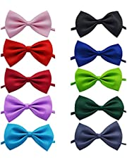 Dog Bow Tie 10pcs Pet Grooming Accessories Rabbit Cat Dog Bow Tie Adjustable Bowtie Multicolor Polyester & Cotton for Festival Party