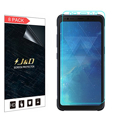 J&D Compatible for 8-Pack Galaxy S8 Active Screen Protector, HD Clear Film Shield Screen Protector for Samsung Galaxy S8 Active Crystal Clear Screen Protector - [Not for Galaxy S8 Edge/Galaxy S8]