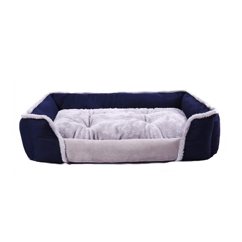 bluee Large bluee Large Sofa-Style Couch Pet Bed for Dogs and Cats,Mattress Pet Bed for Dogs and Cats and Styles,for Warmth and Security (color   bluee, Size   L)
