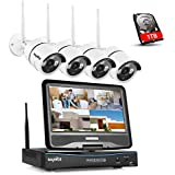 SANNCE Indoor Wifi IP Camera 720P Home Surveillance System with 1TB HDD and 4PCS Megapixel 720P Wireless Outdoor IP Camera System 100ft (30m) Night Vision, 4 Security Camera System Kit