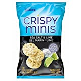 Quaker Crispy Minis Sea Salt and Lime Flavour Rice Chips (Pack of 12)