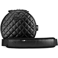 Orbit Concepts DELOOP DELUXE QUILTED Universal HEADPHONE Carrying Bag/Case Made With Nappa Leather, Fits Sennheiser, Sony, Audio Technica, all Beats by Dre and more