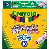 Crayola - 58-8151 - Loisir CrǸatif - 10 Mini Stampers Expressions - Couleur Lavable