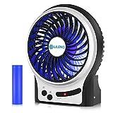 VersionTech Portable Rechargeable Fan, Cooling Electric USB Fan for Desk Table Car Office