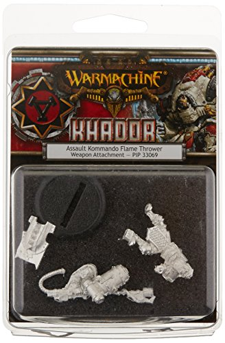 Privateer Press - Warmachine - Khador Assault Kommando Flame Thrower Model Kit 3