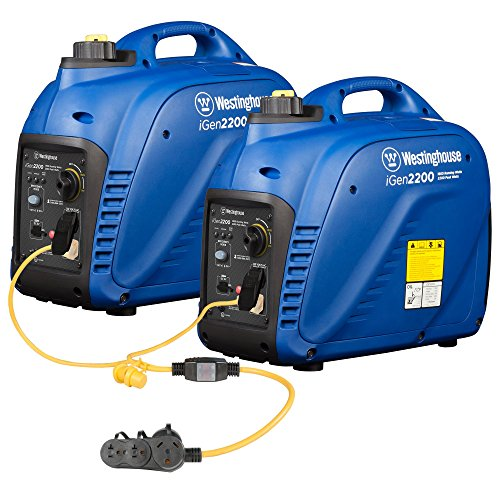 Westinghouse iGen2200 Portable Inverter Generator Parallel Set - 3600 Rated Watts and 4400 Peak Watts - Gas Powered - Includes Parallel Cord