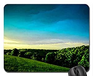 SUMMER FIELD Mouse Pad, Mousepad (Fields Mouse Pad, Watercolor style) by runtopwell