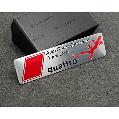 Car Styling Accessories AM04 Emblem Badge Decal Car Sticker AUDI Quattro Sports Germany Team Deutschland A1 A3 A4 A5 A6 A7 A8 Q3 Q5 Q7 TT R8 RS 100x26 mm