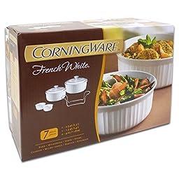 Corningware French White Stoneware 7 Piece Bakeware Set
