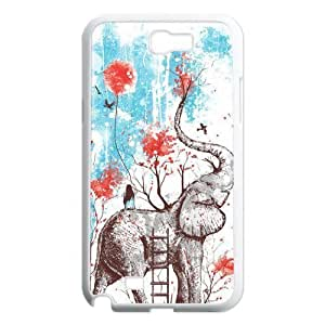 Elephant Unique Fashion Printing Phone For Case Samsung Note 4 Cover ,personalized ygtg524947