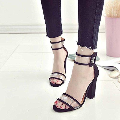Plataforma Zormey Moda De Sandalias Negro De Tacones Mujer Las Mujeres Zapatos Bandolera Sexy Verano S0606739Q Claro Azul De 10 Correa Primavera Gladiador rxXrZn