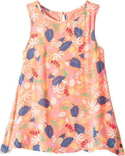 (Roxy Kids Everyone On A Run 2-7 Printed Dress 2 Peach Nectar Exotic)