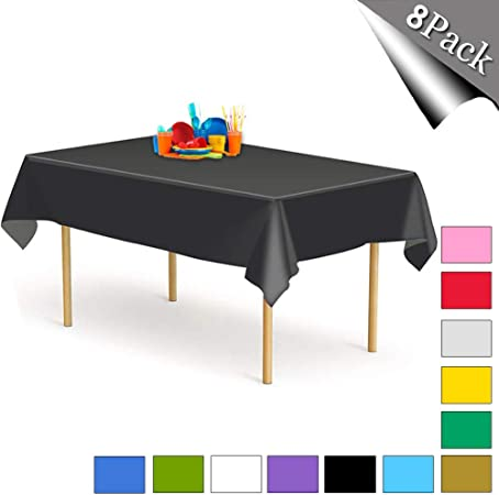 Red, 54 x 108 Inches Aneco 4 Pack Plastic Tablecloth Disposable Tablecloths Rectangle Table Cloths Table Covers 54 x 108 Inches for Indoor or Outdoor Parties Birthdays Weddings Christmas