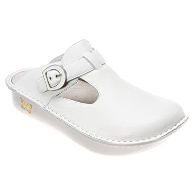 Alegria White Womens Leather Clogs Donna Pro Mules