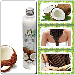 organic coconut oil capsules : NEW COCONUT OIL 100% TROPICANA COLDTHAI PRESSED FOR HEALTH SKIN AND HAIR,100 ML.