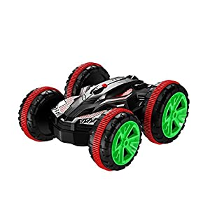 AHAHOO RC Car Amphibious Waterproof Stunt Remote Control Vehicle 2.4GHz 4WD Off Road Radio Controlled Truck, Double-Side, 360 Degree Spins and Flips
