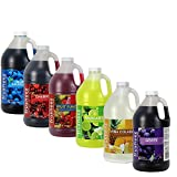 Frusheez Slush & Slushy Mix 1/2 Gallon Choose Your Own Flavors (Six Pack)