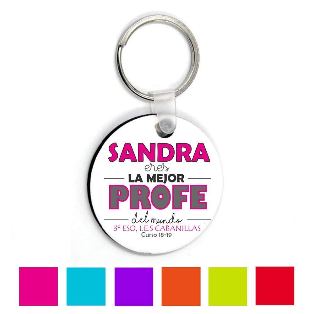 Llavero Profesora/Maestra/Texto Personalizado /