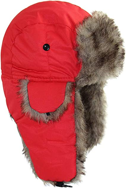Sombrero de cazador para hombres sombrero ruso sombrero de piloto sombrero de aviador gorro cazador c/álido cazador a prueba de viento gorro de invierno unisex con orejeras de piel sint/ética