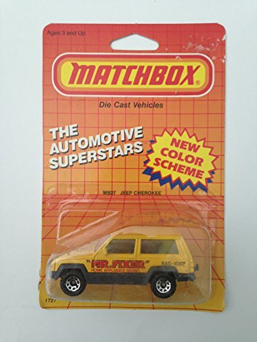 1987 Matchbox MB27 MR. FIXER JEEP CHEROKEE Automotive Superstars Series (1:64 Diecast Car) by Matchbox ()