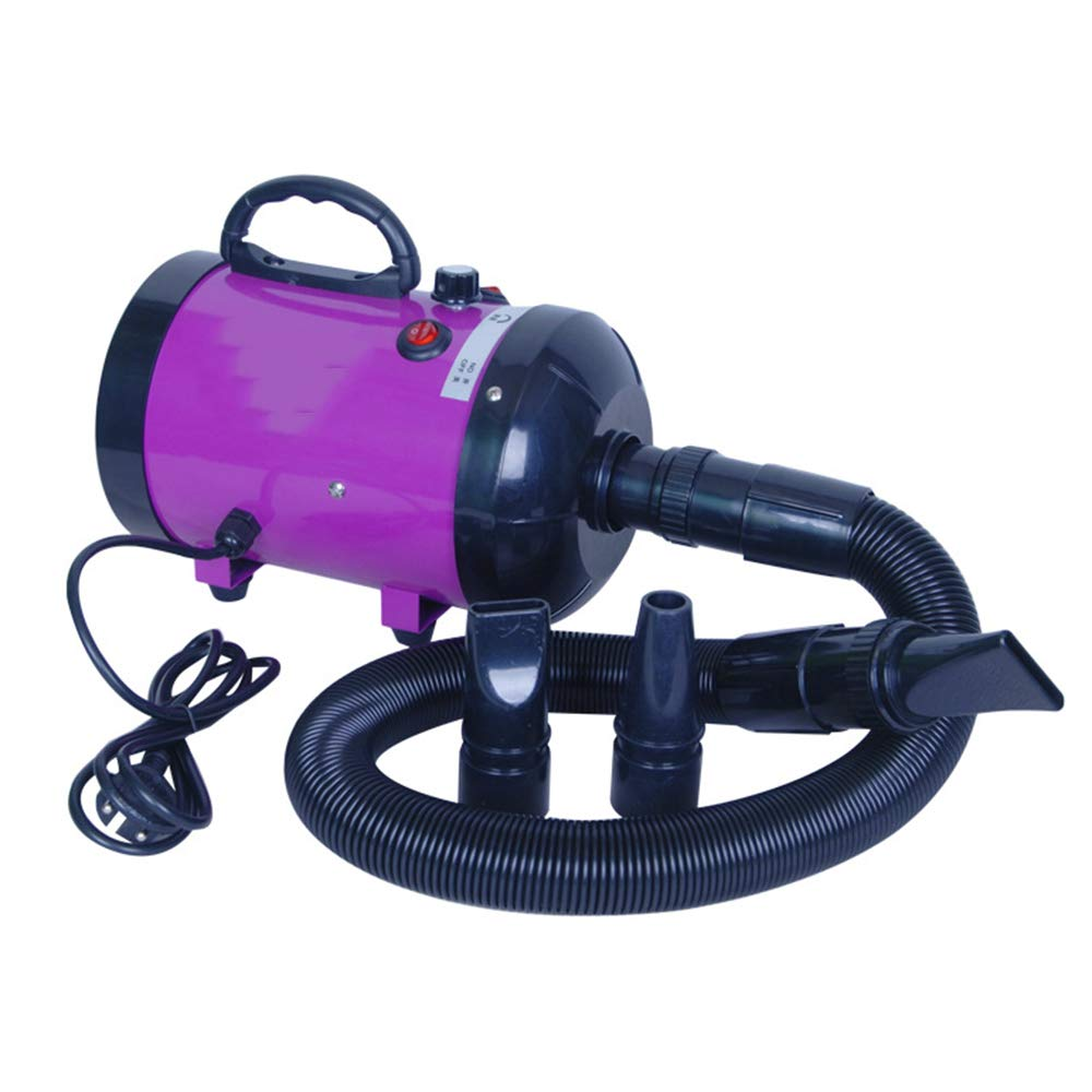 Purple HUQQZ Pet Dryer Continuously Variable Speed Adjustable Temperature And Heat Quiet Operation 2800W (color   Purple)