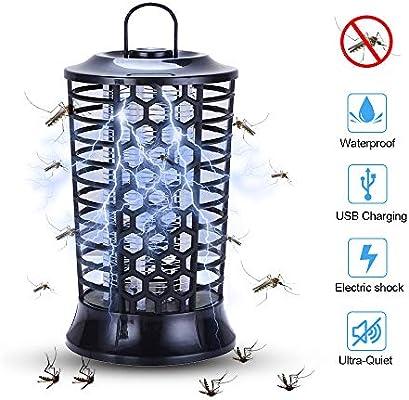 Negro QUTAII L/ámpara Mosquito Electrico L/ámpara antimosquitos UV Luz Lampara Electrico L/ámpara Anti Mosquitos para la Cocina la Sala de Estar el Cuarto de los Ni/ños