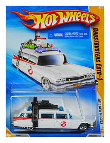 Cadillac Ambulance 1959 (Hot Wheels 2010 New Models GHOSTBUSTERS ECTO-1 1959 Cadillac Wagon White)