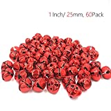 Hot Bear Colorful Jingle Bells 1-Inch/ 25mm, 60-Pack (Red)