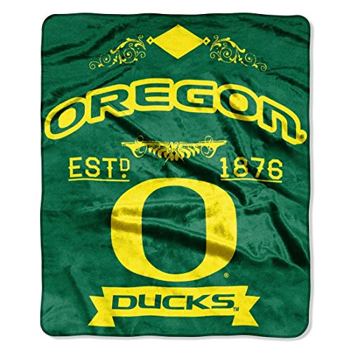 NCAA Oregon Ducks College Label Raschel Throw, 50 x 60-Inch