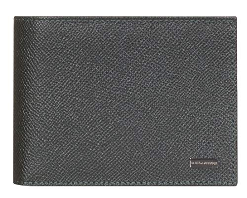 De Bi Corona Veces Dolce Billetera Impresión Cuero De Oscuro Verde De De amp; Gabbana Color Guijarros Placa La Logotipo De TUxYRTq