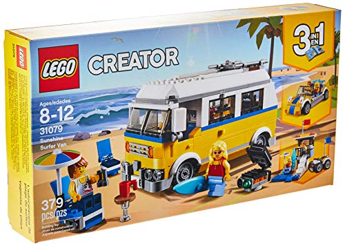 LEGO Creator 3in1 Sunshine Surfer Van 31079 Building Kit (379 Piece) (Rv Series Guitar)