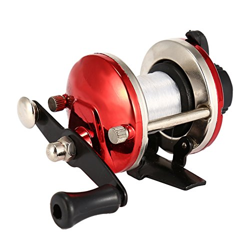 Isafish Release Rover Conventional Reel Inshore and Offshore Saltwater and Freshwater Reel Red