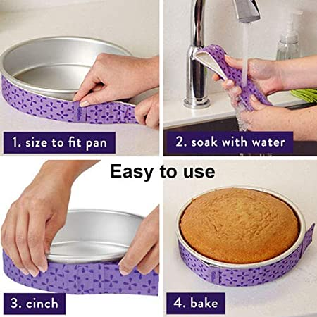 Cake Pan Strips The Home Kitchen Baking 4 pack