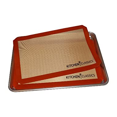 Kitchen Classics Silicone Baking Mats, 11 by 16-Inch (2 Piece Set)