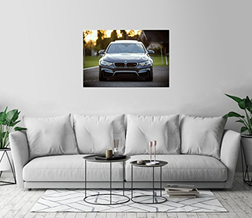 BMW M3 Gray Sport Car Art Print Wall Decor Image Detail Colo