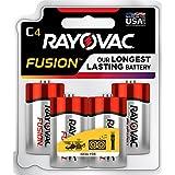 RAYOVAC C 4-Pack FUSION Advanced Alkaline Batteries, 814-4TFUSJ