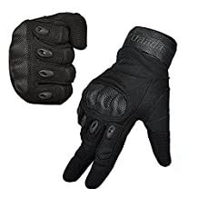 Fuyuanda Tactical Gloves Men`s Outdoor Full Finger Hard Knuckle Motorcycle Glove for Military Army Sporting Shooting Paintball Hunting Driving Riding Cycling Airsoft