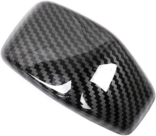 Bishop Tate for Toyota RAV4 XA50 2019 2020 Carbon Fiber Grain Interior Gear Shift Knob Cover Decoration Trim ABS 1PC Car Accessories